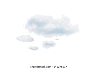 Shot of clouds, isolated on white background