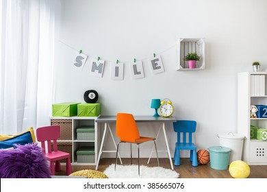 Shot of a colorful room for children