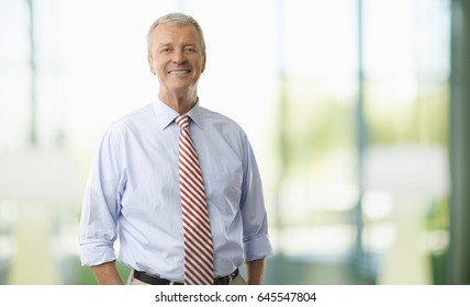 Shot of a confident elderly financial professional man standing in the office.
