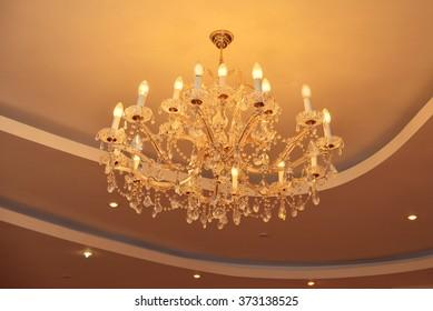 Shot of a crystal chandelier