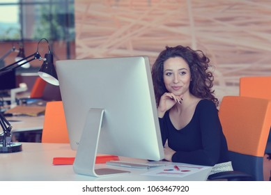 Shot of a designer at their workstation in an office