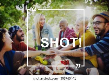 Shot Drink Alcohol Liquor Rum Whiskey Glass Concept