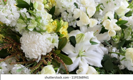 Shot of Flower and candle used for a funeral