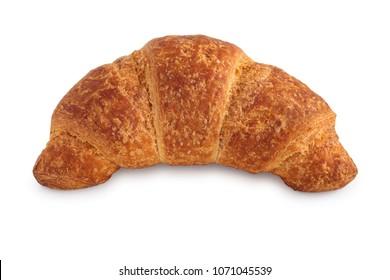 Shot of fresh croissant isolated on white background.