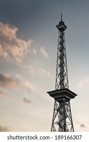 shot of the Funkturm at the exhibition ground ICC in Berlin, Germany