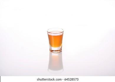 shot glass white background