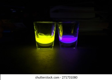 Shot Glasses with Glow Stick Juice