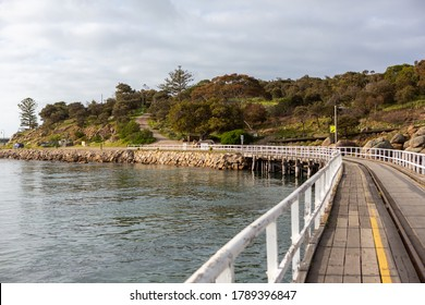Shot from the Granite Island Causeway looking towards Granite Island in Victor Harbor South Australia on August 3 2020