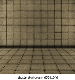 shot of a grey tile  interior as background
