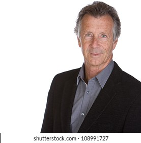 Shot of a Handsome Senior Male against White Background