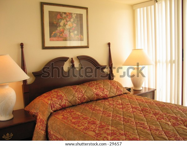 Shot of a hotel suite