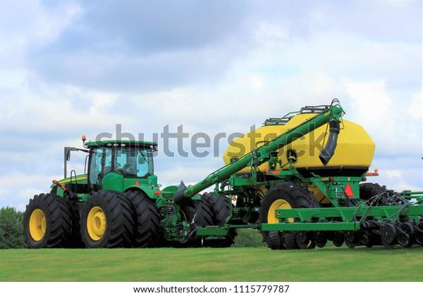 Shot John Deere Tractor Sprayer On Stock Photo (Edit Now