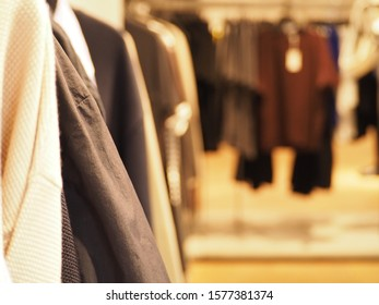 A shot of lined up clothes taken at a shop in Brisbane CBD
