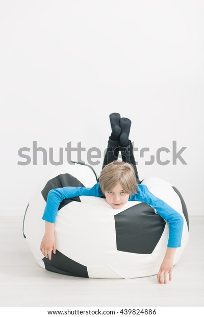 Pleasant Shot Little Boy Laying On Bean Stock Photo Edit Now 439824886 Caraccident5 Cool Chair Designs And Ideas Caraccident5Info