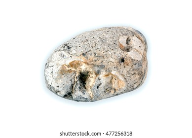 A shot of a little rock with beautiful textures