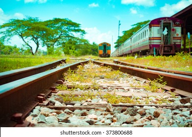 A Shot Looking Down The Tracks From Train Platform Beautiful Photo Of Low Speed Vintage