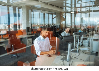 Shot of a man working in an office
