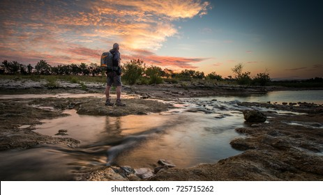 A shot of me watching the sunrise taken in San Marcos, Texas