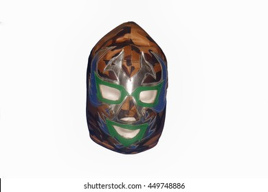 A shot of a mexican free fight (lucha libre) mask