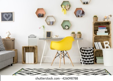 Shot of a modern and creative room for kids