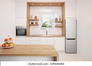 Shot of a modern kitchen interior