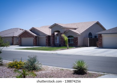 Shot of modern residential Arizona home