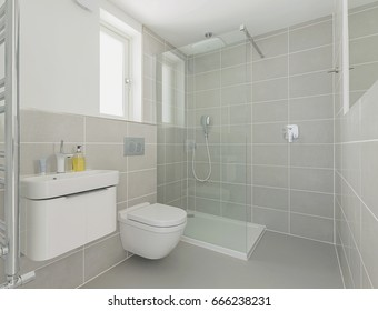 Shot of a Modern Shower Room