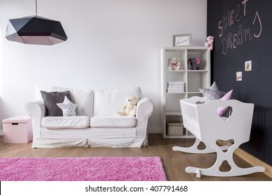 Shot of a modern spacious baby room