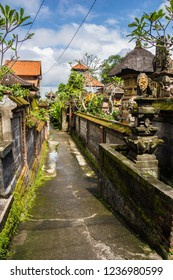 Shot of a narrow street in Ubud, Bali, Indonesia.