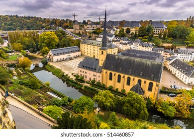 Shot of the Neumunster Abbey in Luxembourg City, Luxembourg