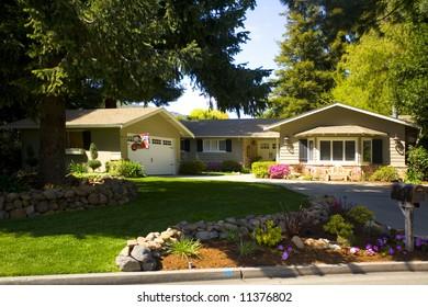 Shot of a Northern California Suburban Home