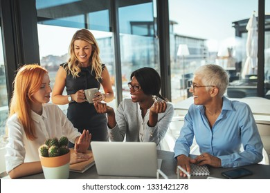 Shot of office workers on a meeting