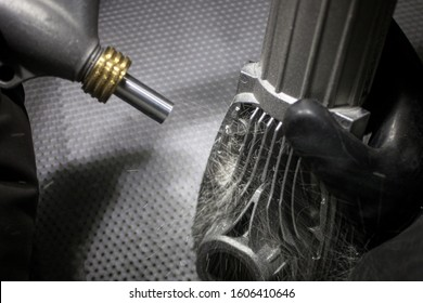 Shot peening and blasting process