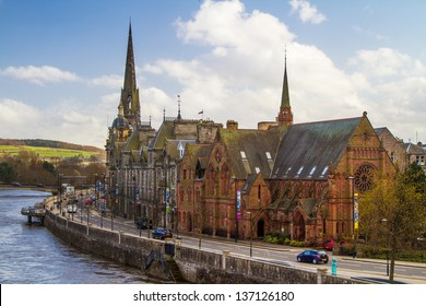 A shot of Perth by the River Tay in Scotland