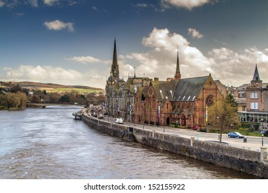 A shot of Perth by the river Tay