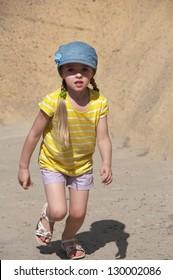 Shot of runing girl