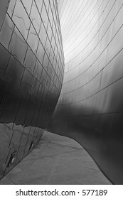 Shot of a segment of wall of the LA opera house designed by Frank Gehry. Excellent for use as a background.