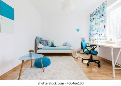 Shot of a spacious cosy children's room
