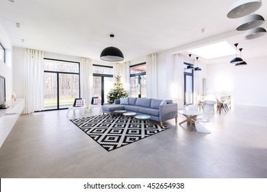 Shot of a spacious modern flat
