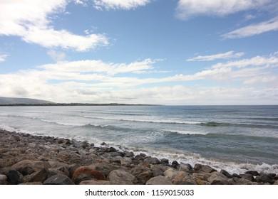 a shot of Strandhill beach, Co. Sligo
