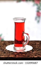 A shot of tasty red currant liqueur