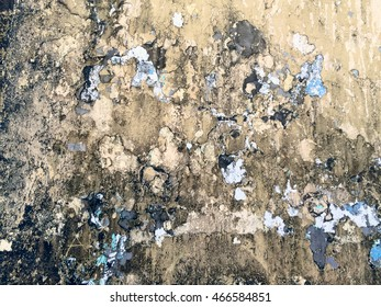 A shot of the textures of a wall in Las Canteras Beach (Grand Canary, Canary islands)