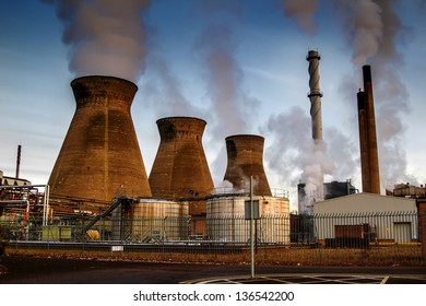 Shot of towers at a UK power station