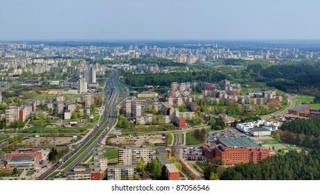 Shot from Vilnius TV tower.