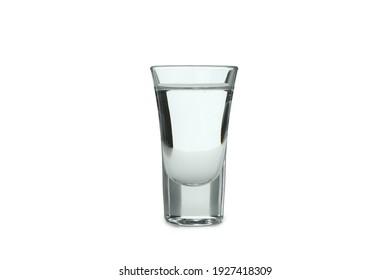Shot of vodka isolated on white background
