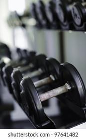 Shot of a weight training equipment.