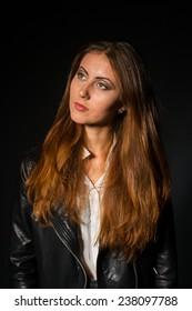 A shot of a young beautiful woman