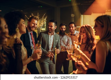 Shot of young people partying in a nightclub