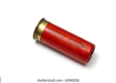 shotgun bullet isolated on white background