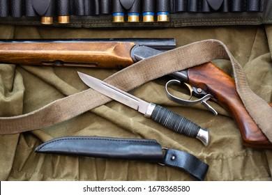 shotgun cartridges knife faithful hunter companions